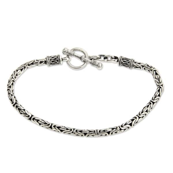 Sterling silver oxidized Toggle for chain