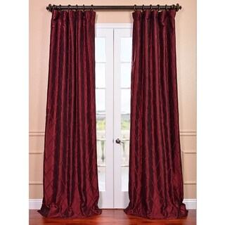 Exclusive Fabrics Exclusive Patterned Faux Silk Taffeta 108-inch Curtain Panel