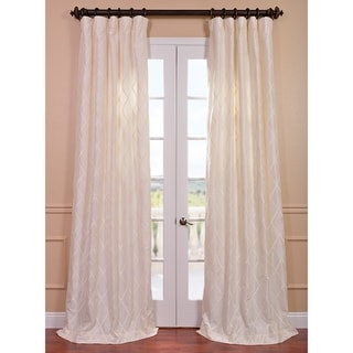 Exclusive Fabrics Patterned Faux Silk 96-inch Curtain Panel