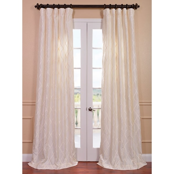 Exclusive Fabrics Patterned Faux Silk 120-inch Curtain Panel