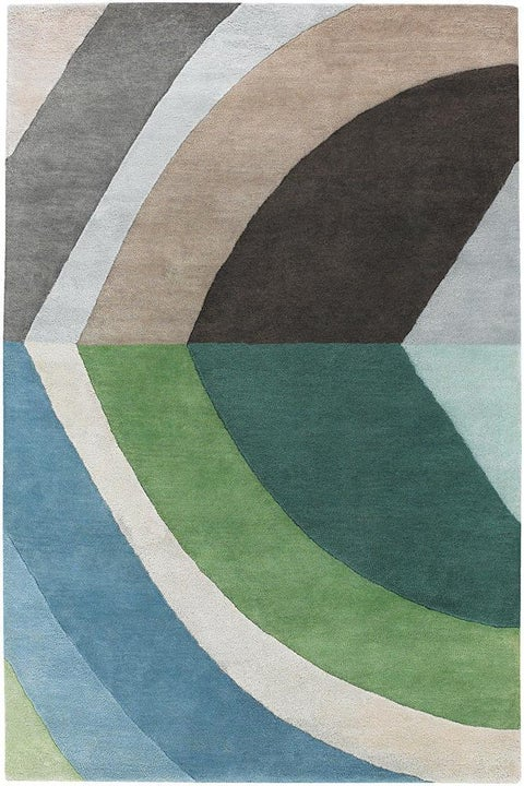 Artist's Loom Hand-tufted Contemporary Geometric Wool Rug (7'9 Round) - 7'9