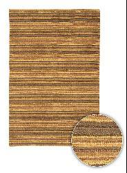 Artist's Loom Hand-woven Contemporary Stripes Rug (5' x 7'6) - Thumbnail 1