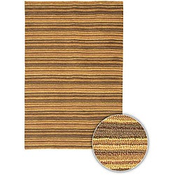Artist's Loom Hand-woven Contemporary Stripes Rug - 5' x 7'6 - Thumbnail 0