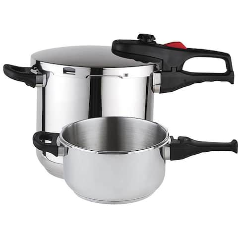 Magefesa Practika Plus Stainless Steel 3-piece Pressure Cooker Set