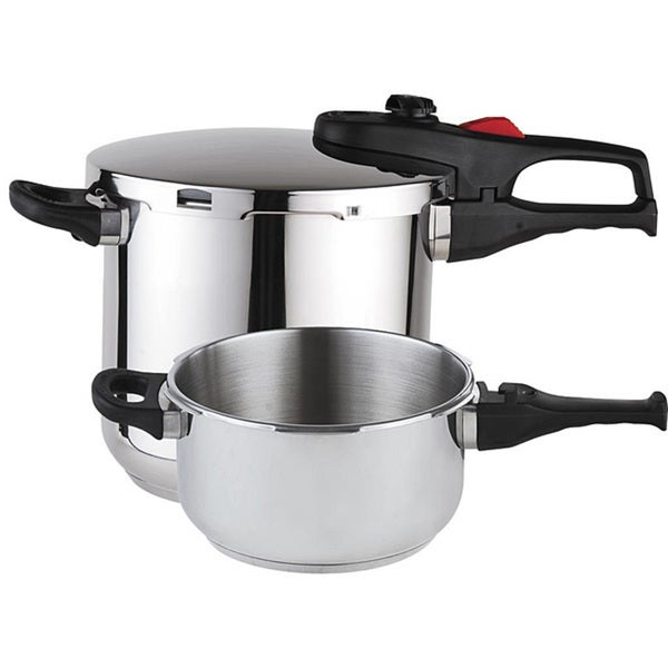 Magefesa practika plus stainless steel 3 piece pressure cooker set