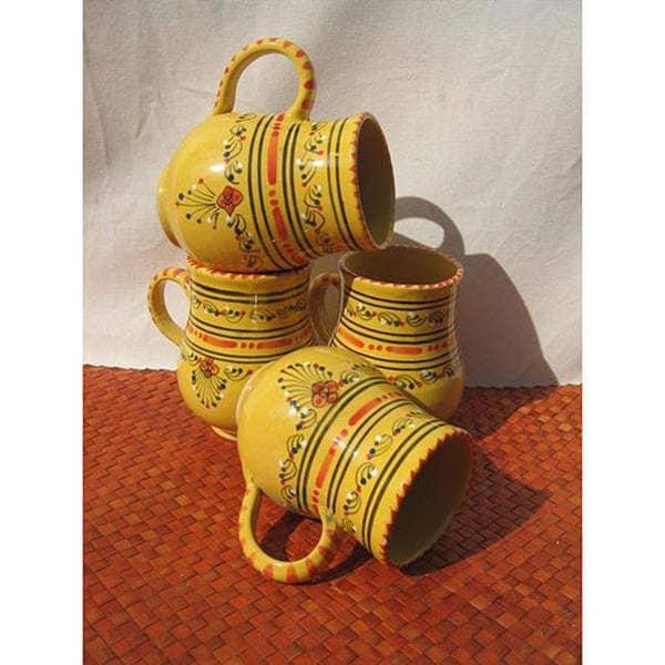 Set of 4 Large 16-oz Solena Mugs (Tunisia)