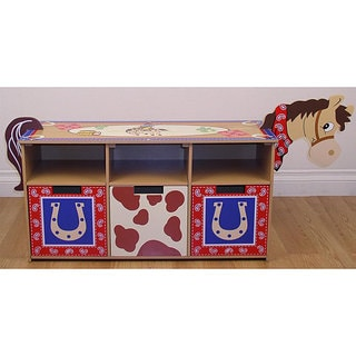 Kid's Cowboy Storage Bench