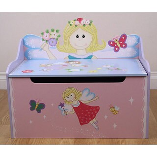 Flower Fairy Storage Toy Box Bench