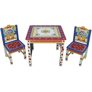 Cowboy Kids' Three-piece Table and Chair Set