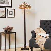 Tiffany-style Ariel Bronze Metal Floor Lamp
