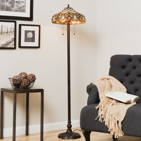Tiffany-style Ariel Floor Lamp