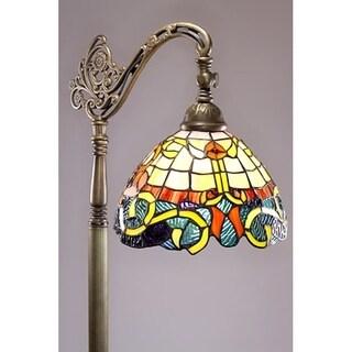 Tiffany-style Rome Reading Lamp