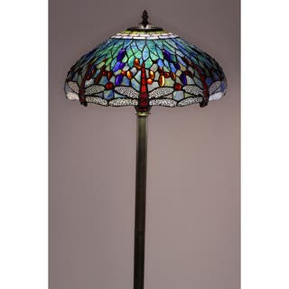 Blue floor lamps for less overstock tiffany style dragonfly floor lamp aloadofball Images