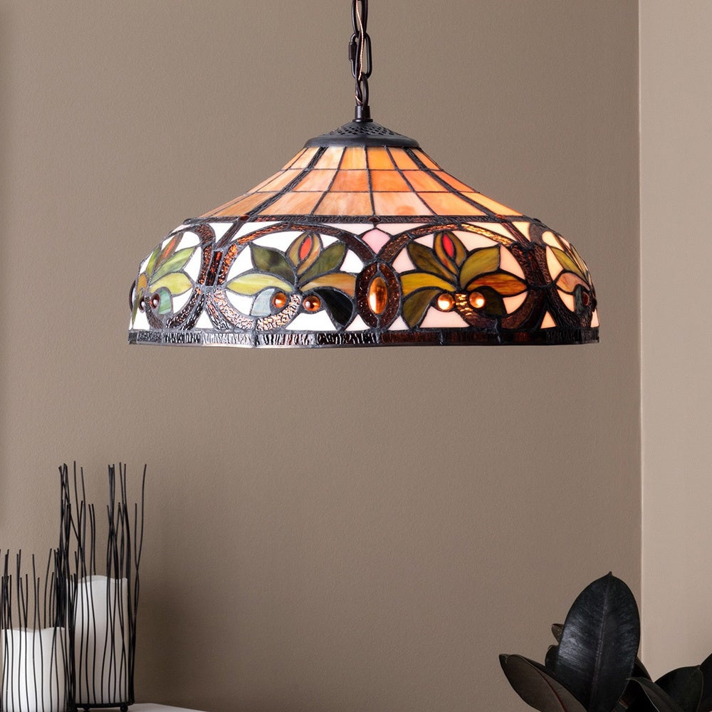 Hanging Tiffany Lamp Dining Room Accents Kitchen Den Bar
