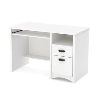 Cherry Finish 2-drawer Open Shelf Desk