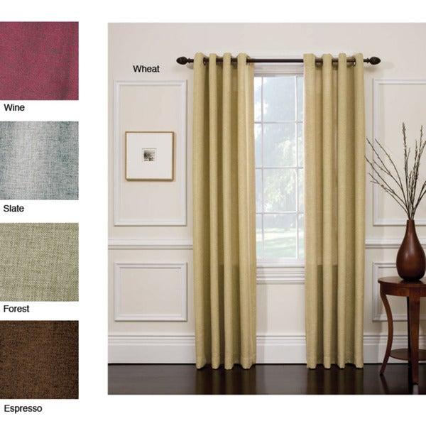 Hopsack Grommet Top Curtain Panel Pair