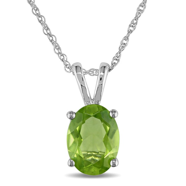 Miadora 10k white gold peridot necklace free shipping today miadora 10k white gold peridot necklace aloadofball Gallery