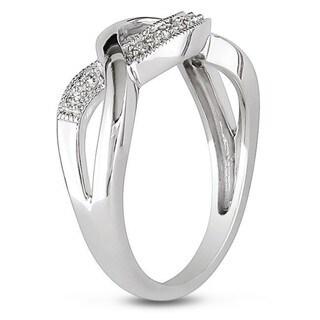 Miadora Sterling Silver 1/10ct TDW Diamond Infinity Ring (I-J, I3)