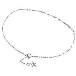 Mondevio Sterling Silver Starfish Anklet