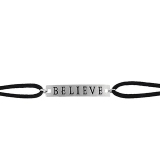 Mondevio Sterling Silver 'Believe' Bracelet
