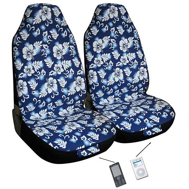 hawaiian blue automotive 2 piece bucket seat covers airbag friendly free shipping on orders. Black Bedroom Furniture Sets. Home Design Ideas