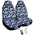 Hawaiian Blue Automotive 2-piece Bucket Seat Covers (Airbag-friendly)