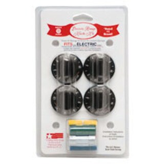 Range Kleen 8114 Black Electric Range Knobs