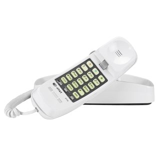 AT&T 210 Corded Trimline Phone with 13-number Memory