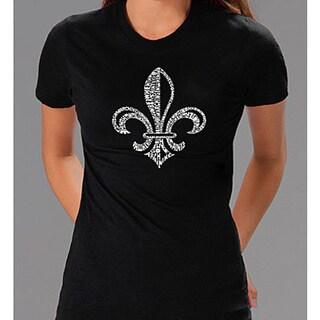Los Angeles Pop Art Women's Fleur De Lis T-shirt