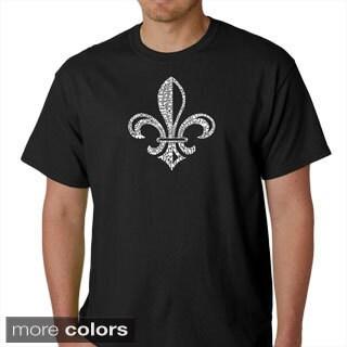 Los Angeles Pop Art Men's 100-percent Cotton Fleur De Lis T-Shirt