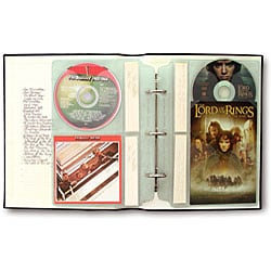 Bellagio Italia Large Storage Binder For Cd Dvd And Blu
