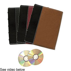 Bellagio Italia Large Storage Binder for CD, DVD, and Blu-ray Discs