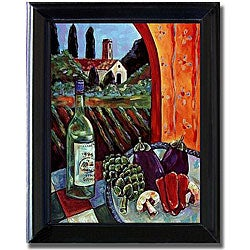Ronda Ahrens 'Pinot Grigio' Framed Canvas Art