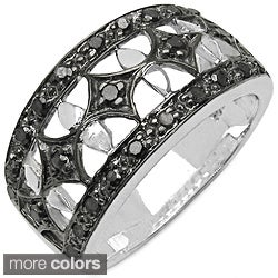 Malaika Sterling Silver Genuine 1/3ct TDW Diamond Ring