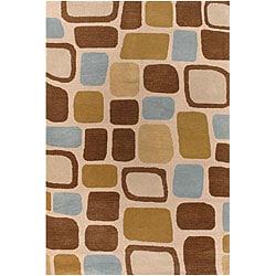 Artist's Loom Hand-tufted Contemporary Geometric Wool Rug (5'x7'6) - 5' x 7'6 - Thumbnail 0