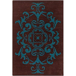 Artist's Loom Hand-tufted Transitional Oriental Wool Rug (5'x7'6) - Thumbnail 0