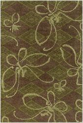 Artist's Loom Hand-tufted Transitional Floral Wool Rug (5'x7'6) - Thumbnail 2