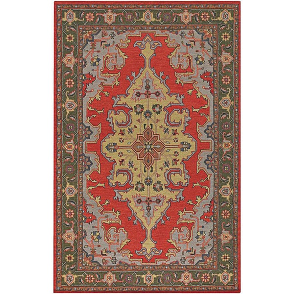 Hand Tufted Traditional Oriental Red Wool Rug With Non: Shop Artist's Loom Hand-knotted Traditional Oriental Wool