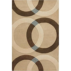 Hand-tufted Mandara Beige/ Brown Rug (9' x 13') - Thumbnail 0