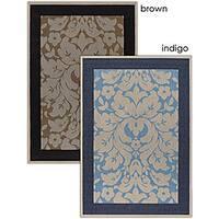 Artist's Loom Indoor/Outdoor Transitional Floral Rug (7'9 x 11'2) - 7'9 x 11'