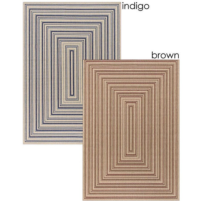 Artist's Loom Indoor/Outdoor Contemporary Geometric Rug (7'9 x 11'2) - 7'9 x 11'