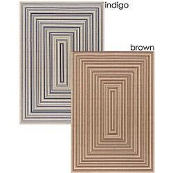 Artist's Loom Indoor/Outdoor Contemporary Geometric Rug (7'9 x 11'2) - 7'9 x 11'