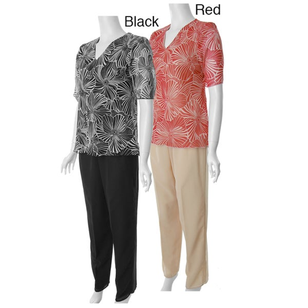Adi Designs Just U Collection Women's Two-piece Pant Set