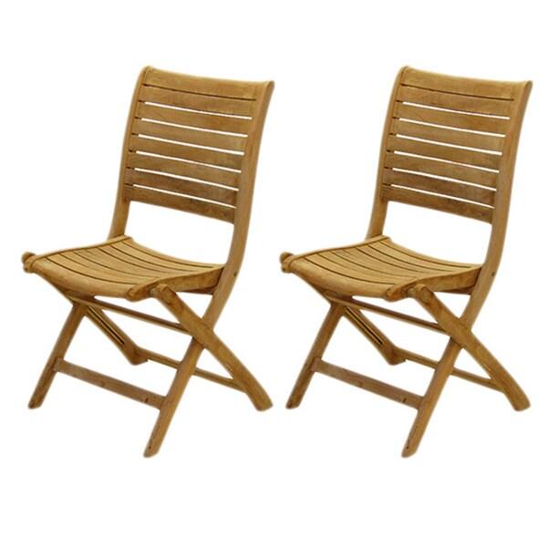 Amazonia Teak Bordeaux Teak Chairs (Set of 2)