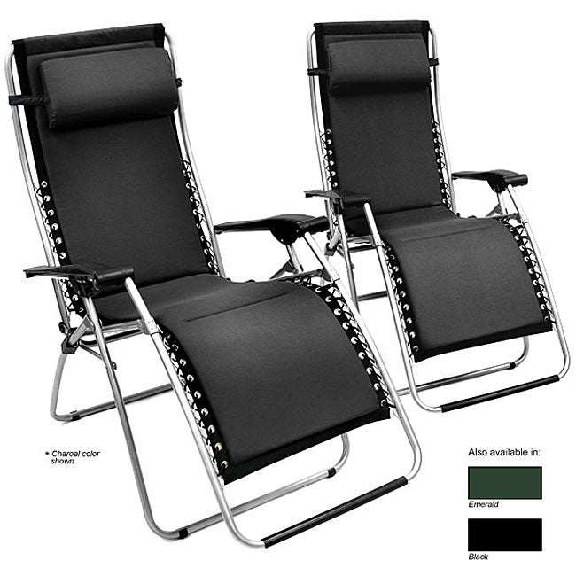 Zero Gravity Foam-padded Recliner Set (Set of 2) - Thumbnail 0