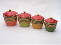 Certified International Hot Tamale 4-piece Canister Set - Thumbnail 1