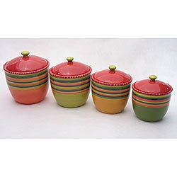 Certified International Hot Tamale 4-piece Canister Set