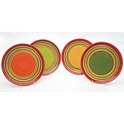 Certified International Hot Tamale Dinner Plates (Set of 4)  sc 1 st  Overstock.com & Earthenware Dinnerware For Less | Overstock.com