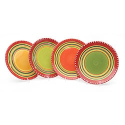Certified International Hot Tamale Salad Plates (Set of 4)