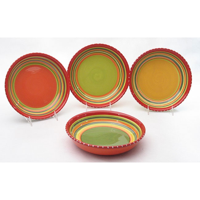 Certified International Hot Tamale Cereal Bowls (Set of 4)